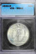 1943 - D ICG MS65 Walking Liberty Half Dollar!!  #B18539