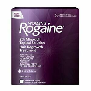 Women's Rogaine 2% Topical Solution for Hair Thinning & Loss, 3-Month Supply