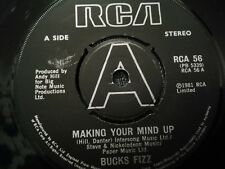 "BUCKS FIZZ * MAKING YOUR MIND UP * 7"" SINGLE EXCELLENT RCA 56 ( 1981 )"