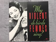 Violent Femmes Why Do Birds Sing? RARE promo 12 x 12 poster flat '91