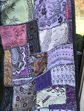 Vintage Hanging Crazy Quilt .Fine Estate.