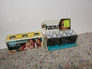 Vintage GE & FOCAL Flash Cubes 4 Standard Flashcube Camera New Old Stock 5 Bulbs