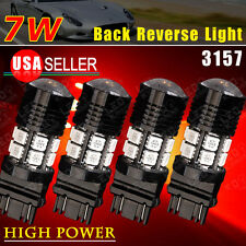 4x Super Red High Power 7W 3157/3156 Tail Brake Stop LED Light Bulbs 500LMS