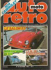 AUTO RETRO 38 MODELES 1954 PEUGEOT 202 ZIL PEUGEOT 504 CABRIOLET R5 LAURENCE