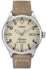 Timex Orologio Unisex acciaio Data Cinturino Pelle Indiglo Waterbury Tw2p83900