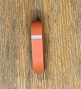 Fitbit Flex Band Orange Rust (Device not included), Size Small With Metal Clasp