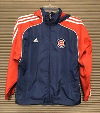Chicago Cubs Youth Boys Kids M 10 12 Baseball MLB Adidas Blue Windbreaker Jacket