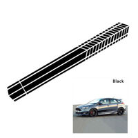 2pcs Auto Vinyl Side Long Stripe Body Door Racing Graphics Decal Sticker Car SUV