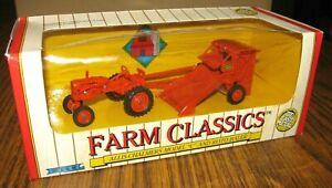 Allis Chalmers C TRACTOR & ROTO BALER Set 1:43 Ertl Toy #4298 Farm Classics 1991