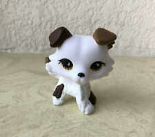 Littlest Pet Shop Custom OOAK LPS Collie Dog White Hand Painted Figure
