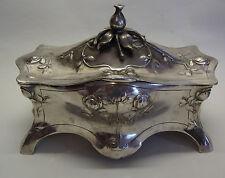 Fantastic antique art nouveau WMF silver plated jewelry box