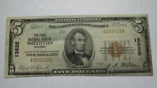 $5 1929 Smithton Illinois IL National Currency Bank Note Bill! Ch. #13525 RARE