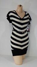 large Sweater Dress Short Sleeve Made For Me Look Amazing Vanilla Stick Stripe