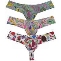Men Bikini Boxers Thong Underwear Comfy Mini Cheek Trunks Jockstrap Tanga Pants