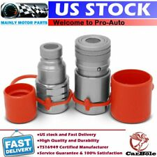 34 Npt Skid Steer Flat Face Hydraulic Quick Connect Couplers Couplings Set