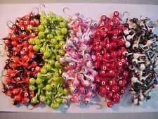 50 NEW FLOATING WALLEYE JIG HEADS 3/8 OZ.BLACK RED GREEN PINK ORANGE SET #5556