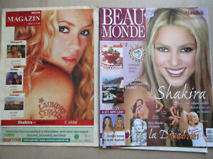 2X SHAKIRA COMPLETE HUNGARIAN VINTAGE MAGAZINES + CLIPPINGS