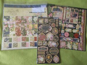Graphic 45 - Floral Shoppe Collection bundle kit - 12 x 12  paper pack & extras