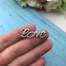 6pcs  Love Connector Tibet silver Charms Pendants DIY Jewellery Making crafts