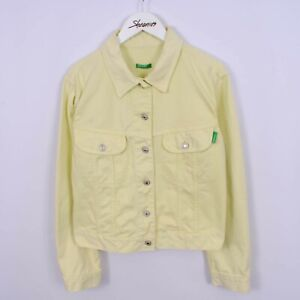Vintage 90s United Colors Of Benetton Denim Jacket Made In Italy Womens Size L