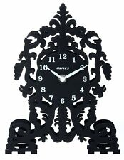 On Sale! Maple's Ornate Cathedral Silhouette Metal Table Clock - Ambx12A