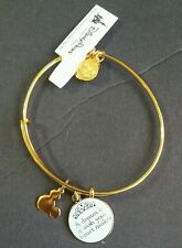 Disney Alex and Ani Cinderella Dream is a Wish Your Heart Charm Gold Bracelet