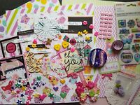 Bulk Paper, Sticker & Embellishment Pack for Scrapbooking and Card Making Kit 20