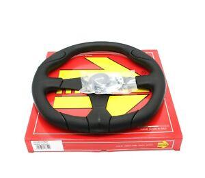 MOMO Steering Wheel Quark Black Polyurethane 350mm Tuning Sport Racing