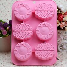 Brain Cake Mold Floral Flexible Silicone Mould For Candy Chocolate Soap