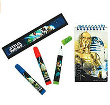 STAR WARS  Birthday Party supply favor STATIONERY SET 5pc markers ruler pad