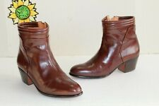 Vintage Pierre Cardin Men's Ankle Zipp Boots Brown Leather, Size 6.5 M Spain