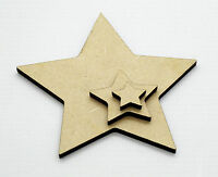 Wooden MDF Star shapes, arts & craft blank cutouts, Plaque and card making stars