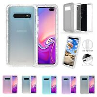 For Samsung Galaxy S10+ Plus Transparent Heavy Duty Defender Case Cover
