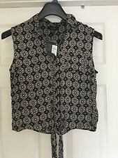 Atmosphere Black & White Top size 12 New With Tags