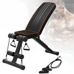 Weight Bench Dumbbell Adjustable Gym Exercise Flat Incline Decline Abs Training