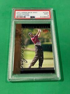 2001 Upper Deck Golf Tiger Woods #TT-20 Tiger's Tale RC PSA 9 MINT PGA CHAMPION!