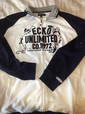 Ecko Unlimited sweatshirt hoodie jacket 2XL blue embroidered spellout streetwear