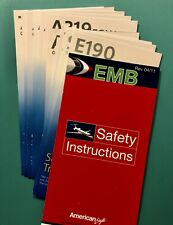 14 AMERICAN AIRLINES SAFETY CARDS SET