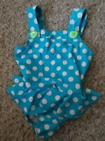 THE CHILDREN'S PLACE Blue Polka Dot Skirted Bathing Suit Girls 18 months