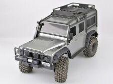 For Traxxas TRX-4 Defender BUMPER SET w/ Winch + Rear Bumper BLACK