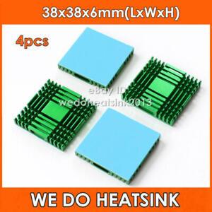 4pcs Northbridge Southbridge Chipset IC 38x38x6mm Aluminum Heatsink with Pads