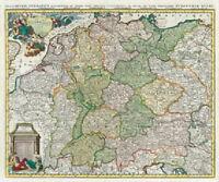 Deutschland 1740 - Das heilige Römische Reich - Historische Karte (Reprint)
