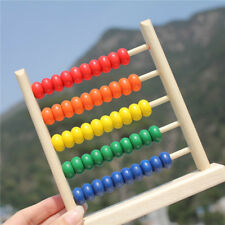 Wooden Children's Counting Bead Abacus Educational Frame Maths Kids Gift 8C