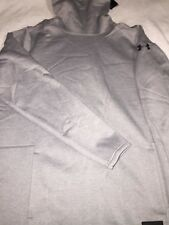 Under Armour Cold Gear Long Sleeve Cows Neck Silver Pullover Men'S