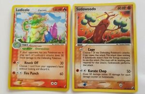 Ludicolo & Sudowoodo Crystal G /  Unseen  F.  Holo Pokemon Cards TCG