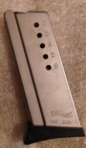 Factory original Walther TPH 22 lr .22LR 6 round magazine stainless OEM