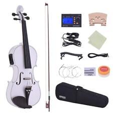 Ammoon pleine taille 4/4 Acoustic Electric Violin Violon en bois massif corps Ebony Chevilles