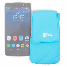 "Premium Quality 5.5"" Blue Smartphone Pouch Case Sleeve for Alcatel Idol 4"