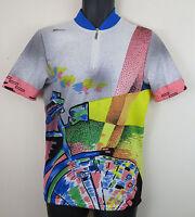 8ba13876f Vtg Cycling Retro Jersey Santini Shirt Vintage Trikot Maillot Maglia L Large