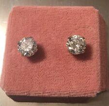 4 carat CZ (Cubic Zirconium) earring studs.